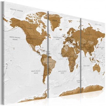 Quadro - World Map: White Poetry - Quadri e decorazioni