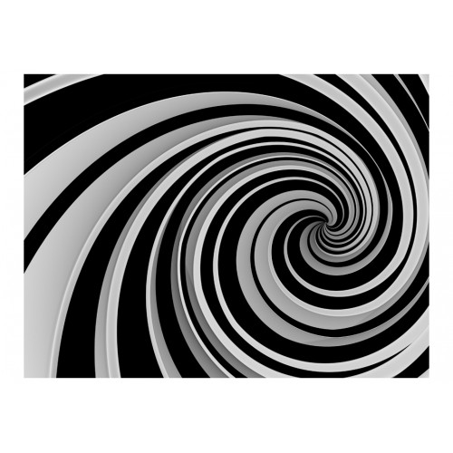 Fotomurale - Black and white swirl - Quadri e decorazioni