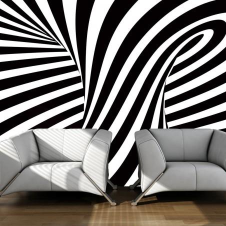 Fotomurale - op art: bianco e nero - Quadri e decorazioni