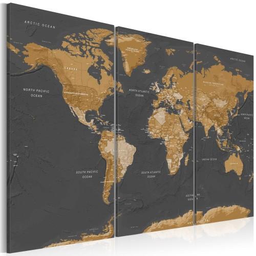 Quadro - World Map: Modern Aesthetics - Quadri e decorazioni