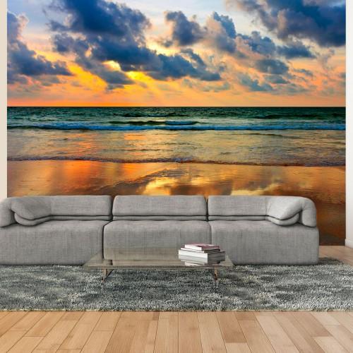 Fotomurale - Un tramonto di colori sul mare - Quadri e decorazioni
