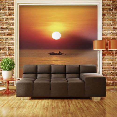 Fotomurale - Barca da pesca al tramonto - Quadri e decorazioni