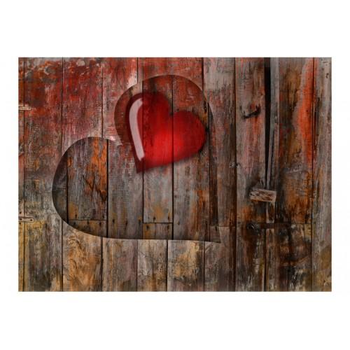 Fotomurale - Cuore intagliato nel legno - Quadri e decorazioni