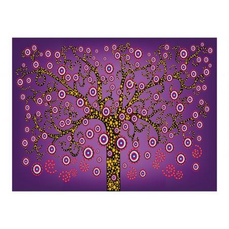 Fotomurale - astratto: albero (viola) - Quadri e decorazioni