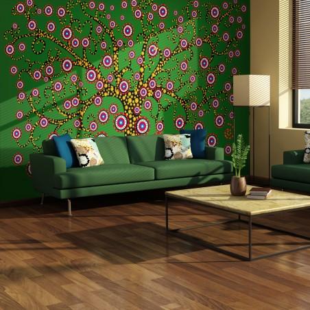 Fotomurale - astratto: albero (verde) - Quadri e decorazioni