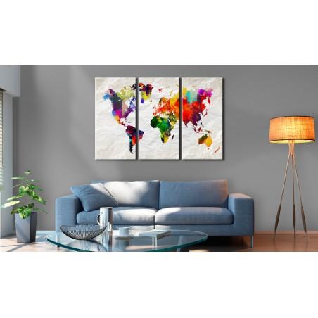 Quadro - World Map: Rainbow Madness II - Quadri e decorazioni