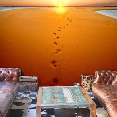 Fotomurale - Impronta sulla sabbia - Quadri e decorazioni