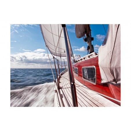 Fotomurale - Un barca lontano dalla riva - Quadri e decorazioni
