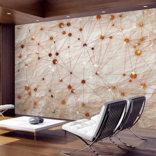 Fotomurale - Stone and Gold - Quadri e decorazioni