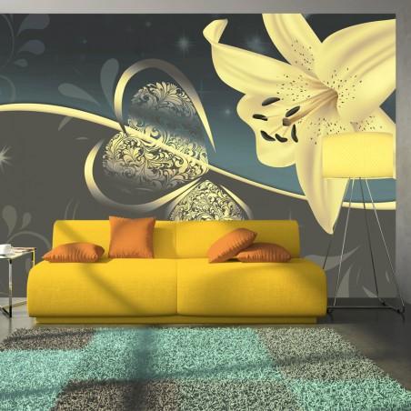 Fotomurale - Gigli in grigio - Quadri e decorazioni