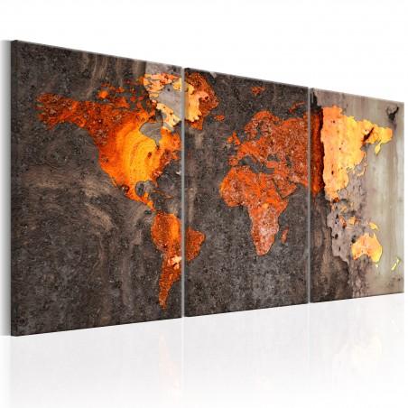 Quadro - World Map: Rusty World - Quadri e decorazioni