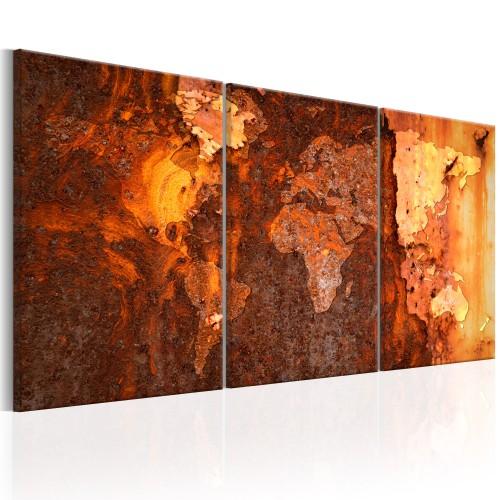 Quadro - World Map: Old Rust - Quadri e decorazioni