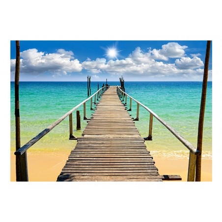 Fotomurale - Beach, sun, bridge - Quadri e decorazioni