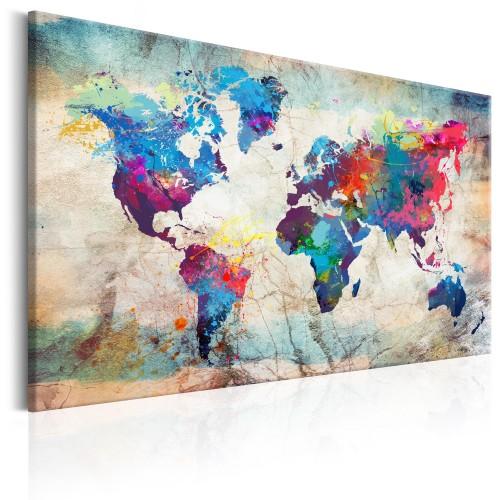 Quadro - World Map: Colourful Madness - Quadri e decorazioni
