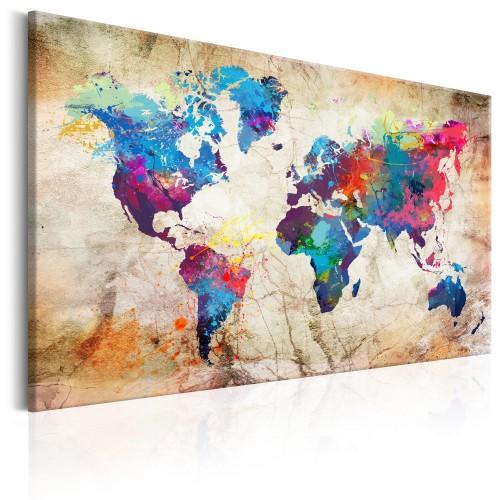 Quadro - World Map: Urban Style - Quadri e decorazioni