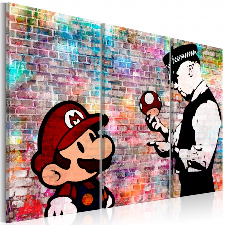 Quadro - Rainbow Brick (Banksy) - Quadri e decorazioni