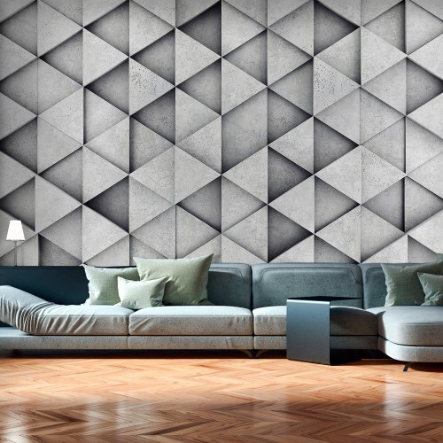 Fotomurale - Grey Triangles - Quadri e decorazioni