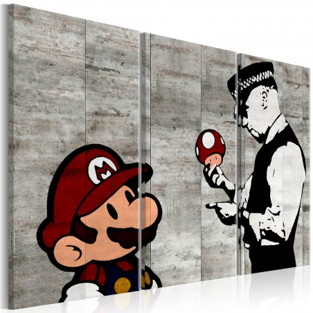 Quadro - Banksy: Mario Bros - Quadri e decorazioni