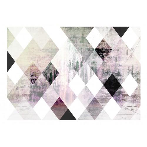 Fotomurale - Rhombic Chessboard (Pink) - Quadri e decorazioni