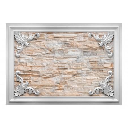 Fotomurale - Brick in the Frame (Orange) - Quadri e decorazioni