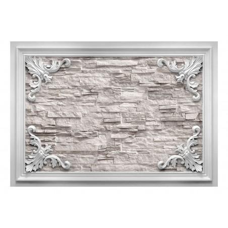 Fotomurale - Brick in the Frame (Beige) - Quadri e decorazioni