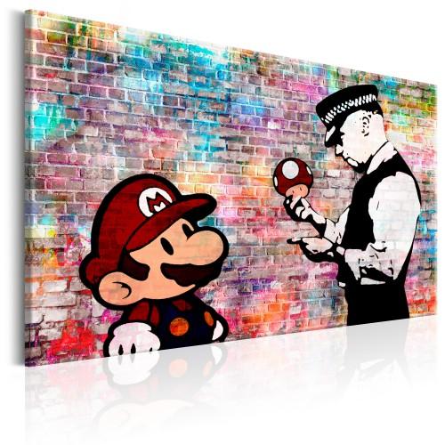 Quadro - Banksy: Colourful Brick - Quadri e decorazioni