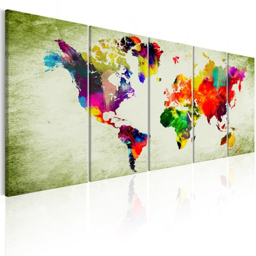 Quadro - Colourful Continents - Quadri e decorazioni