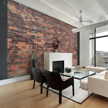 Fotomurale - Vintage Wall (Red Brick) - Quadri e decorazioni