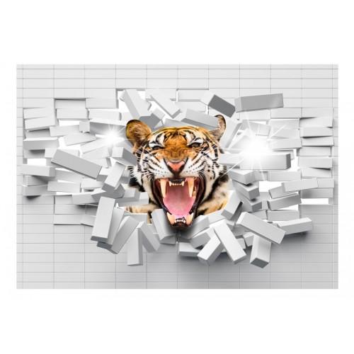 Fotomurale - Tiger Jump - Quadri e decorazioni