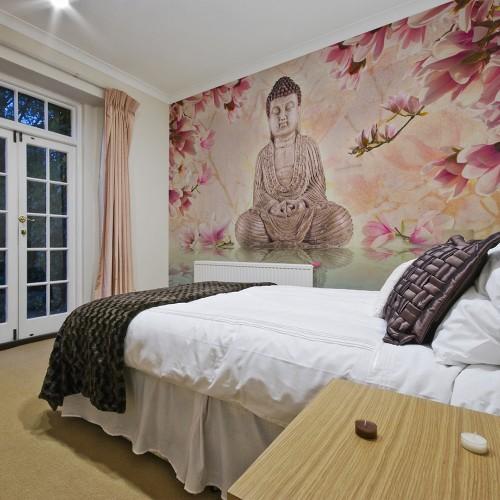 Fotomurale - Buddha e magnolia - Quadri e decorazioni