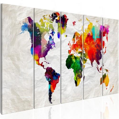 Quadro - Crumpled Map - Quadri e decorazioni
