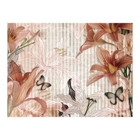 Fotomurale - Fiori e farfalle - Quadri e decorazioni