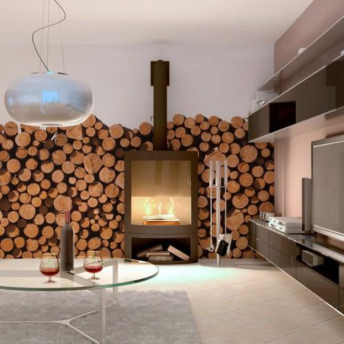 Fotomurale - Pali di legno - Quadri e decorazioni