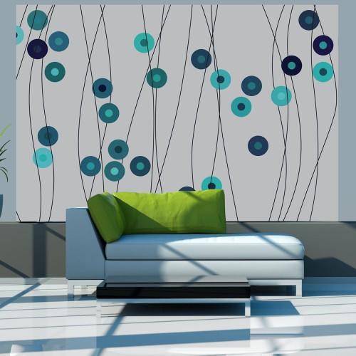 Fotomurale - Bottoni azzurri - Quadri e decorazioni