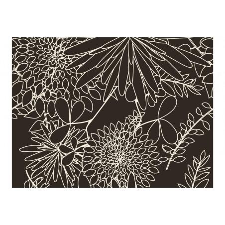 Fotomurale - Motivo floreale in bianco e nero - Quadri e decorazioni