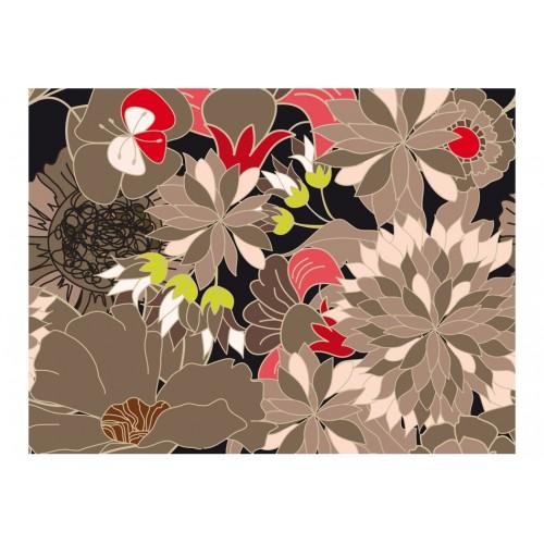 Fotomurale - motivo floreale - grigio - Quadri e decorazioni