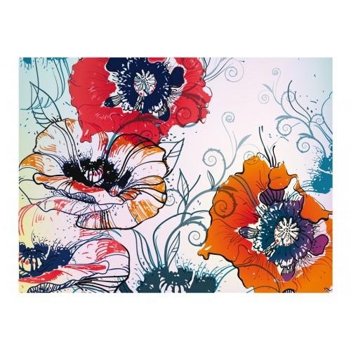 Fotomurale - Delicato motivo floreale - Quadri e decorazioni