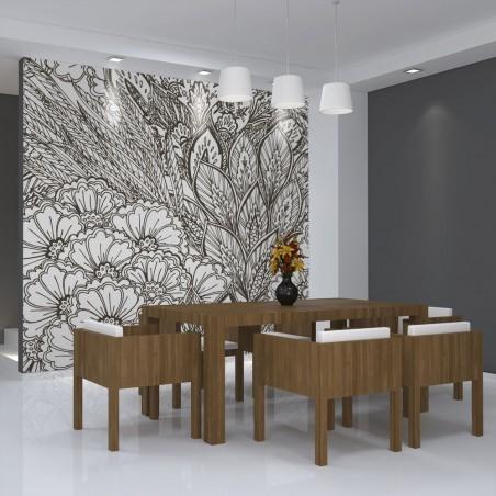 Fotomurale - prato (bianco e nero) - Quadri e decorazioni