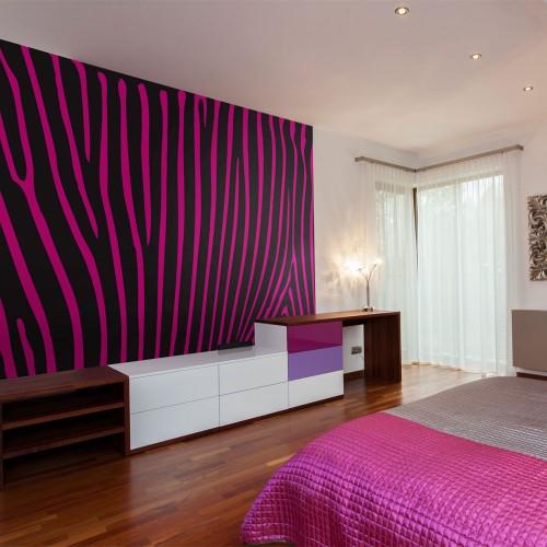 Fotomurale - Zebra pattern (viola) - Quadri e decorazioni