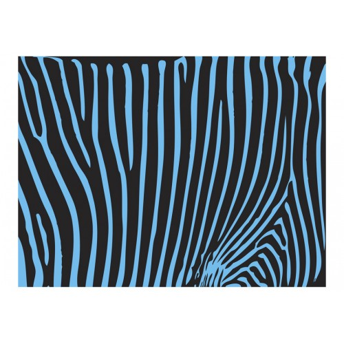 Fotomurale - Zebra pattern (turchese) - Quadri e decorazioni