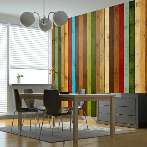 Fotomurale - Wooden rainbow - Quadri e decorazioni