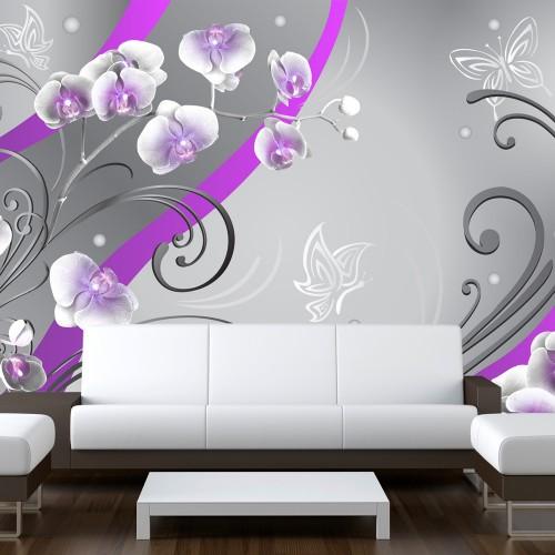 Fotomurale - Viola orchidee - una variazione - Quadri e decorazioni