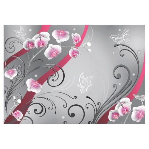 Fotomurale - Orchidee rosa- una variazione - Quadri e decorazioni