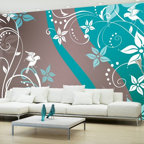 Fotomurale - fantasia floreale III - Quadri e decorazioni