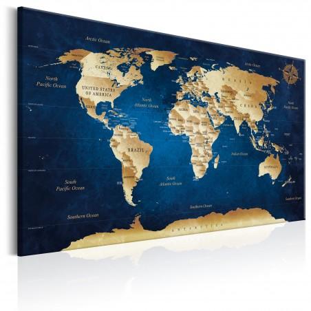 Quadro - World Map: The Dark Blue Depths - Quadri e decorazioni