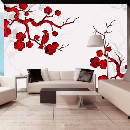 Fotomurale - Cespuglio rosso - Quadri e decorazioni
