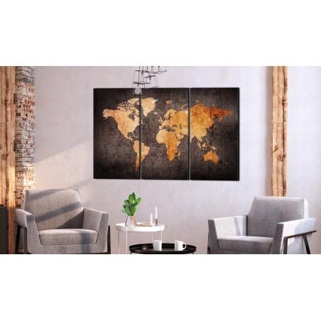 Quadro - Chestnut World Map - Quadri e decorazioni