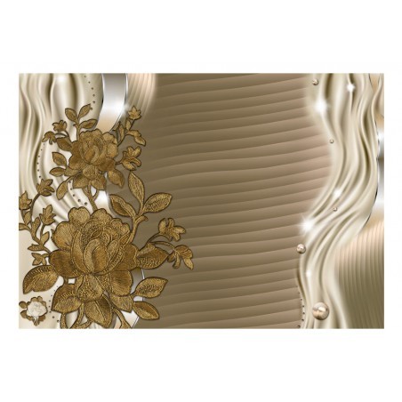 Fotomurale - Germogli dorati - Quadri e decorazioni