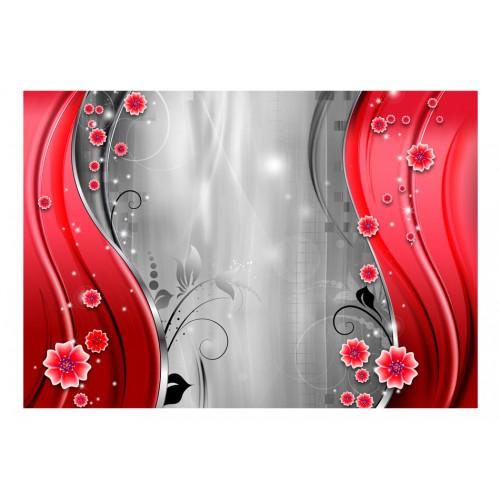 Fotomurale - Dietro la cortina di rosso - Quadri e decorazioni