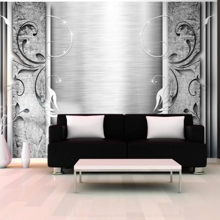 Fotomurale - Foglie d'acciaio - Quadri e decorazioni